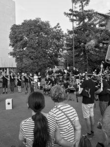 le bagad de Nantes répète pour le Festival Interceltique de Lorient