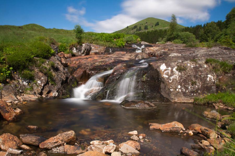 paysage de chute d'eau