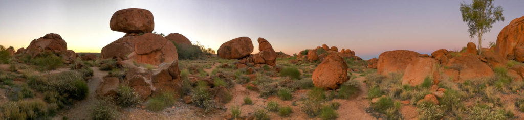 amas rocheux dans le désert australien