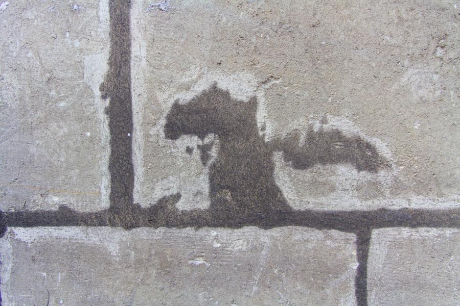 forme sur un mur