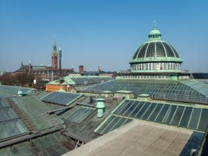 vue sur Copenhague depuis le toit de la Glyptotek
