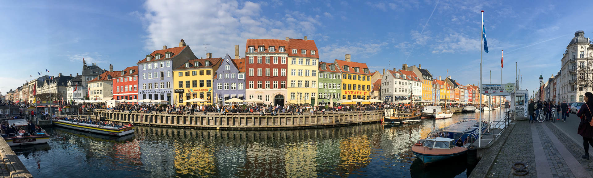 vue panoramique du port de Nyhavn à Copenhague