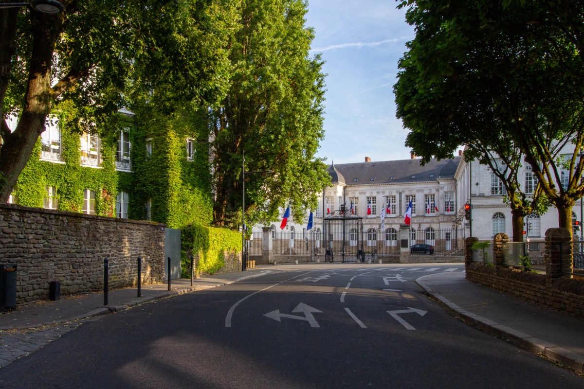 une rue à Nantes