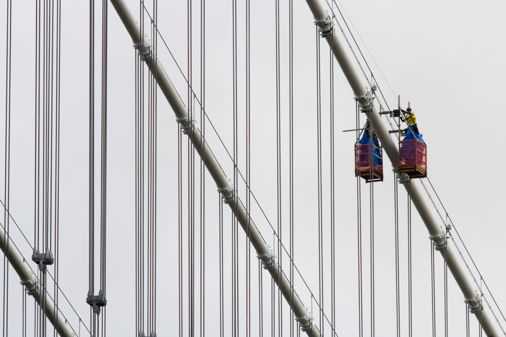 Bridge workers